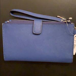 Michael Kors Bags - NEW Micheal Kors DoubleZip Wristlet Leather Wallet